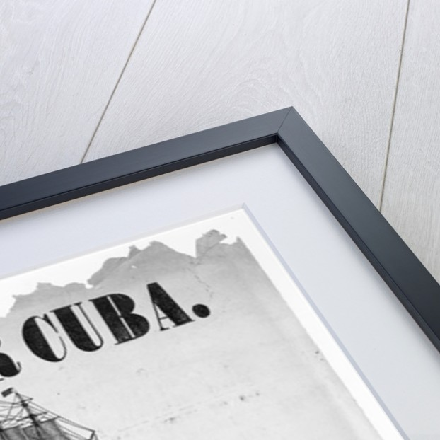 Ho, for Cuba, poster advertising a meeting to sympathise with those who fell in their efforts to free Cuba from the tyranny of Spain by American School