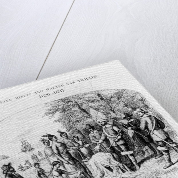 The Purchase of Manhattan Island by American School
