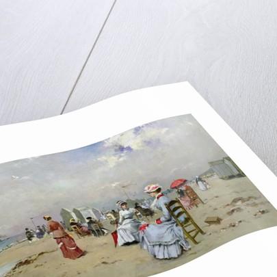 La Plage de Trouville by Paul Rossert