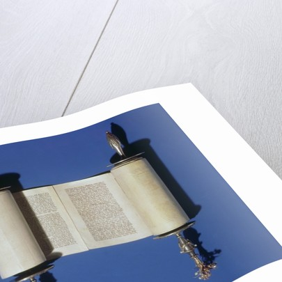 Miniature Torah Scroll by English School