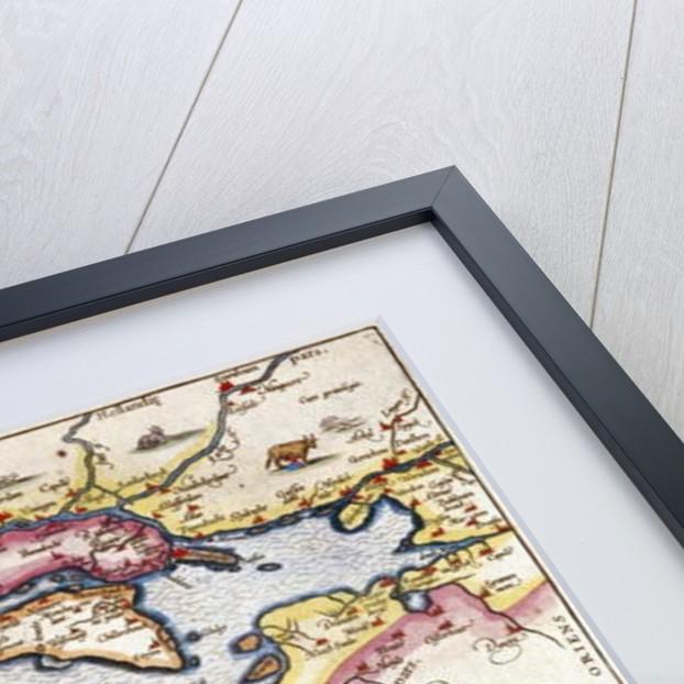 Map of Zeeland by Abraham Ortelius