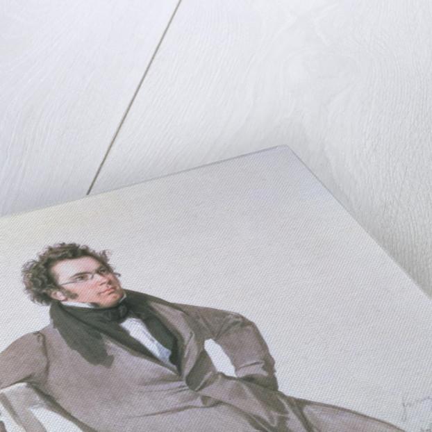 Franz Schubert by Wilhelm August Rieder