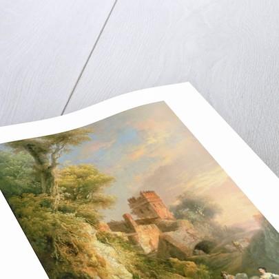 Spanish landscape by Manuel Barron y Carrillo