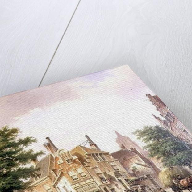 Figures at a Crossroads in Amsterdam by Willem Koekkoek