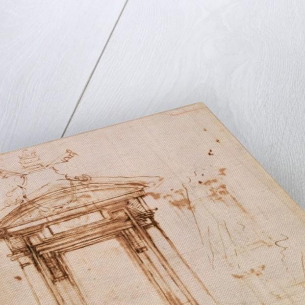 Architectural study by Michelangelo Buonarroti