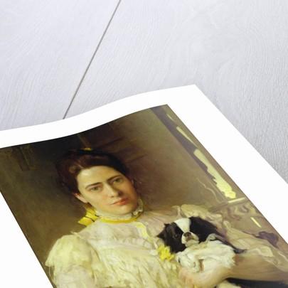 Lady with a lap dog by Eduardo-Leon Garrido