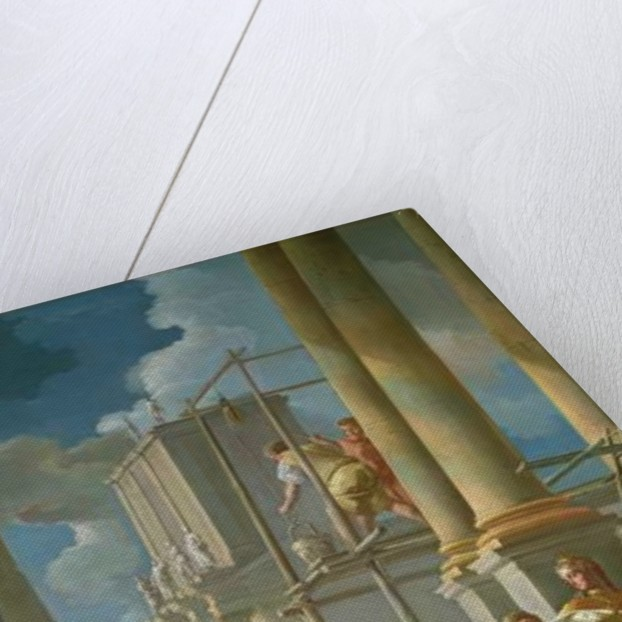 Classical Construction Scene by Francesco de Mura