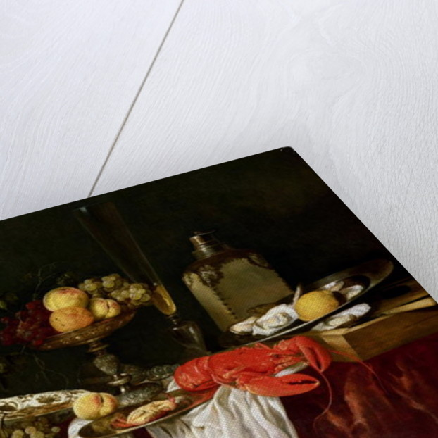 Still Life with lobster by Abraham Hendricksz van Beyeren