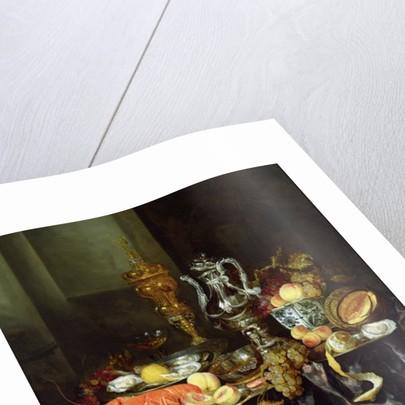 Still Life with Fruit and Shellfish by Abraham Hendricksz van Beyeren