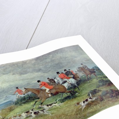Fox Hunting in Surrey by Randolph Caldecott