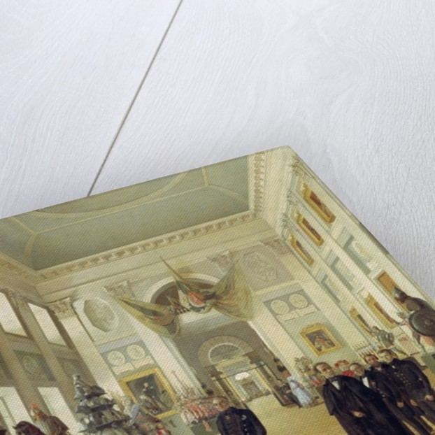 Interior of the Armoury Chamber in the Kremlin by Nikolai Alexeyevich Burdin