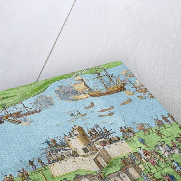 The sinking of the Mary Rose during the Battle of the Solent by James Basire