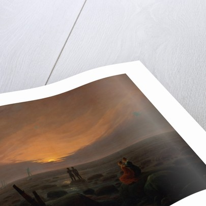 Moon Rising Over the Sea by Caspar David Friedrich