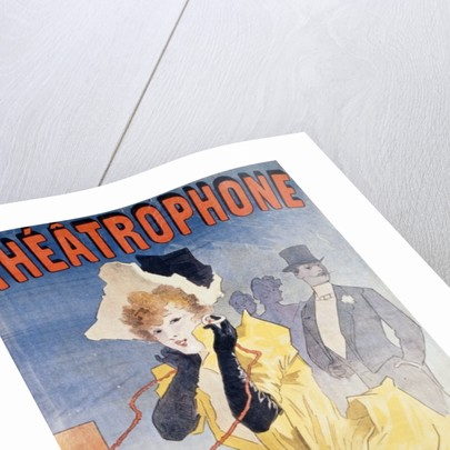 Poster Advertising the 'Theatrophone' by Jules Cheret