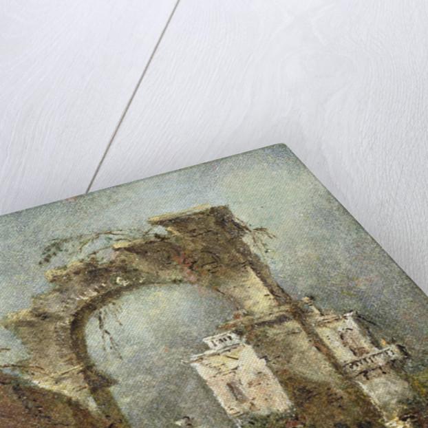 A Capriccio - A Ruined Arch by Francesco Guardi