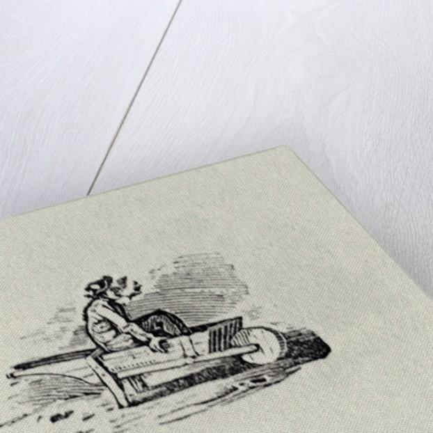 A Man in a Wheelbarrow by Thomas Bewick