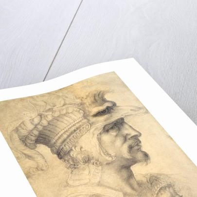 Ideal head of a warrior by Michelangelo Buonarroti
