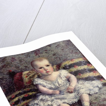 Child on a sofa by Gustave Caillebotte