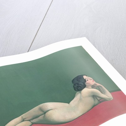Nude Stretched out on a Piece of Cloth by Felix Edouard Vallotton