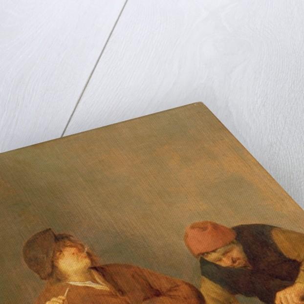 Two Smokers in an Interior by Adriaen Jansz. van Ostade