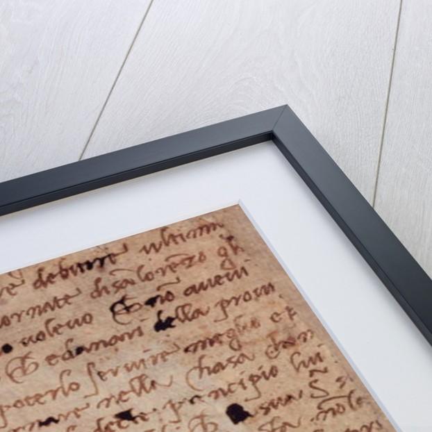 Page of handwriting by Michelangelo Buonarroti