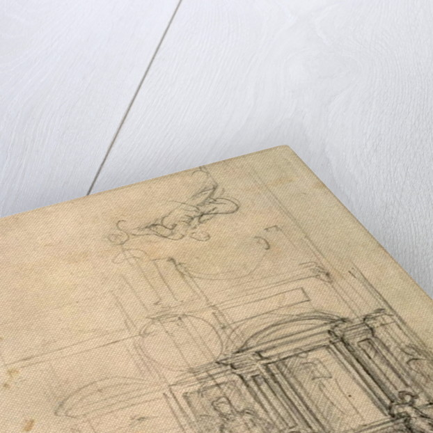 Design for the Medici Chapel in the church of San Lorenzo, Florence by Michelangelo Buonarroti