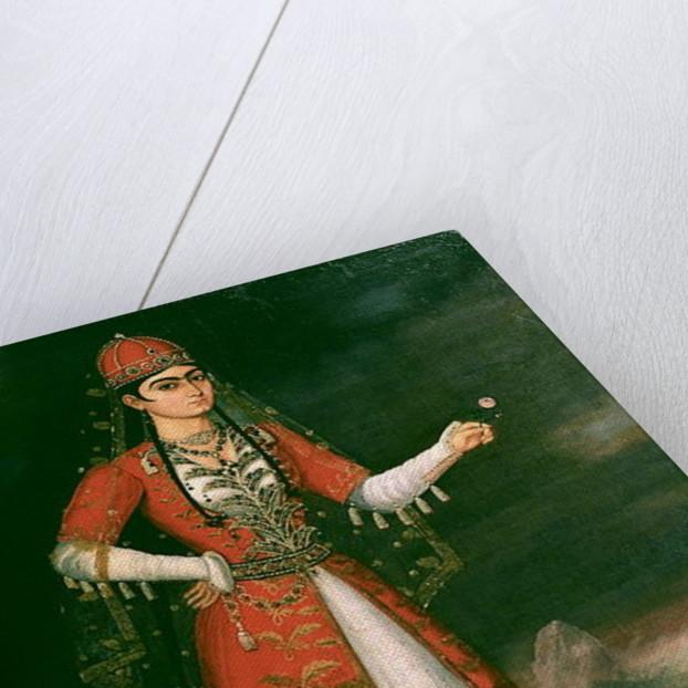 Portrait of Nino Eristavi, Iranian by Iranian School