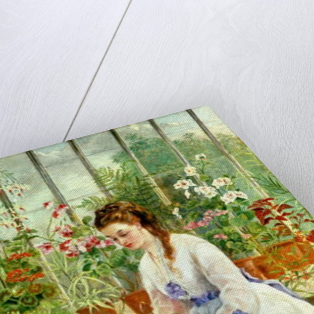 Young Lady in a Conservatory by Jane Maria Bowkett