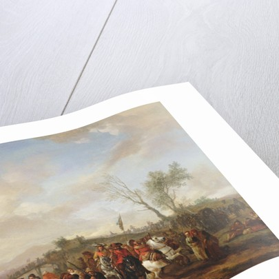 An army on the march by Philips Wouwermans or Wouwerman