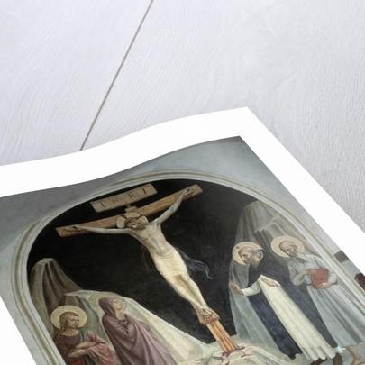 La crucifixion du Christ avec la Vierge Marie, Saint Jean l'Evangeliste, Saint Jerome, Saint Dominique by Fra (c.1387-1455) Angelico