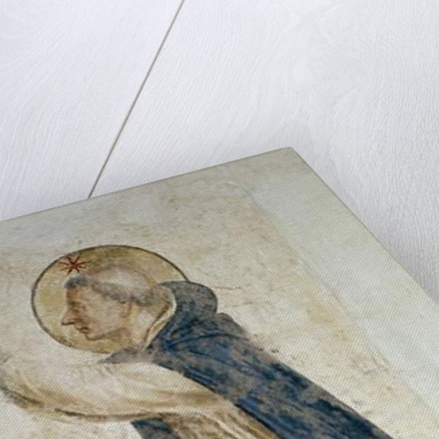 Detail of Saint Dominic 1442 by Fra Angelico