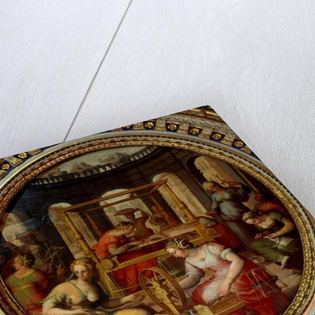 Penelope weaving by Jan van der (after) Straet