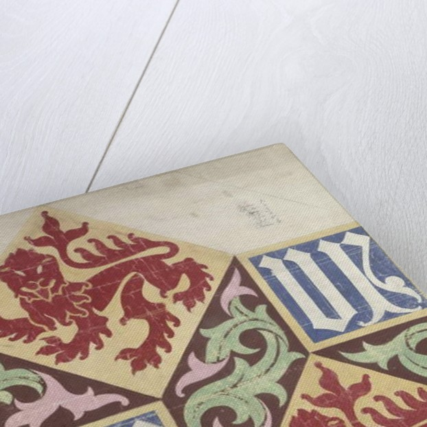 Floor design for the Houses of Parliament by Augustus Welby Northmore Pugin