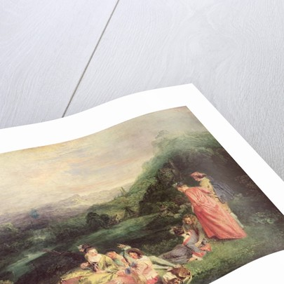 Peaceful Love, c.1718-19 by Jean Antoine Watteau