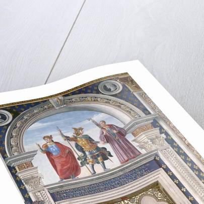 Decio Mure, Scipio and Cicero detail from the fresco in the Sala dei Gigli, c.1470 by Domenico Ghirlandaio
