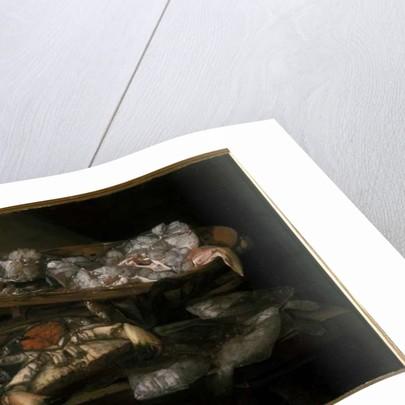 Still life with flatfish and crab by Abraham Hendricksz van Beyeren