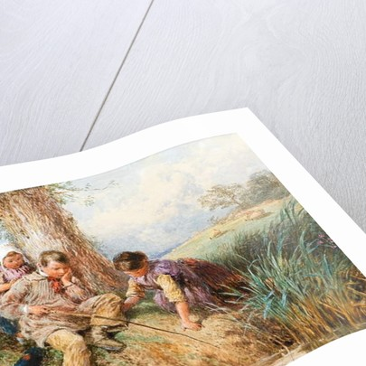 Young Anglers: No Luck Today by Myles Birket Foster