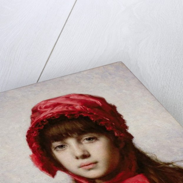 The Red Bonnet by Alexei Alexevich Harlamoff