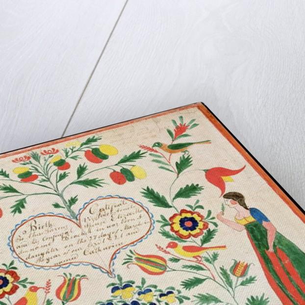 Birth certificate, 1821 by American School