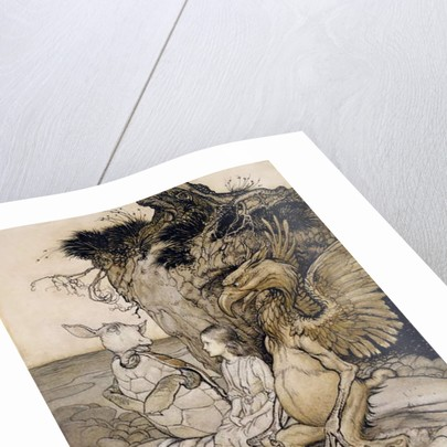 Alice and the Mock Turtle by Arthur Rackham