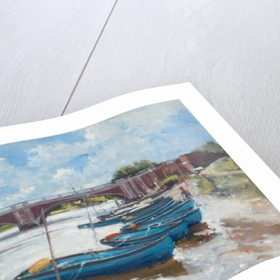 Moorings at Hampton Court by Christopher Glanville