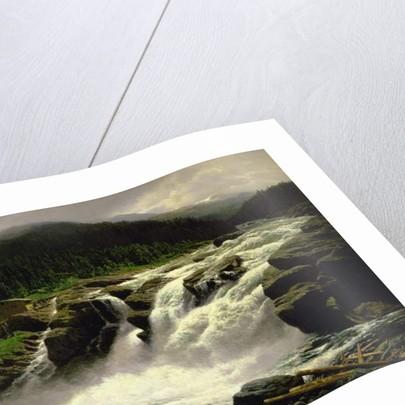Norwegian Waterfall, at Lofor in Valders, 1905 by Karl Paul Themistocles von Eckenbrecher