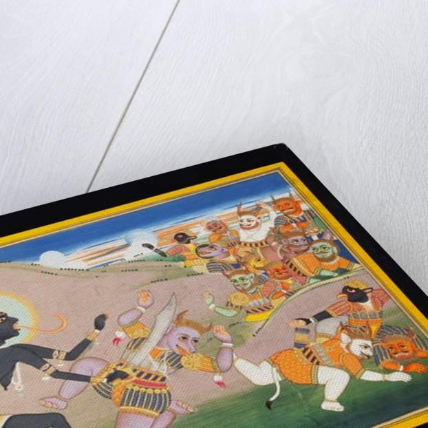 Kali Slaying Demons, c.1800-1820 by Indian School