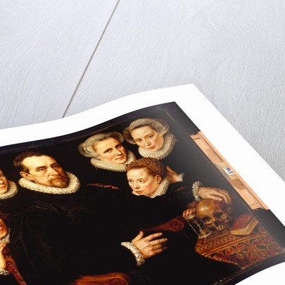 A Group Portrait of a Gentleman with his Three Daughters and his Three Sons by Adriaen Thomasz Key