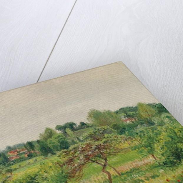 June, Rainy Weather, Eragny by Camille Pissarro