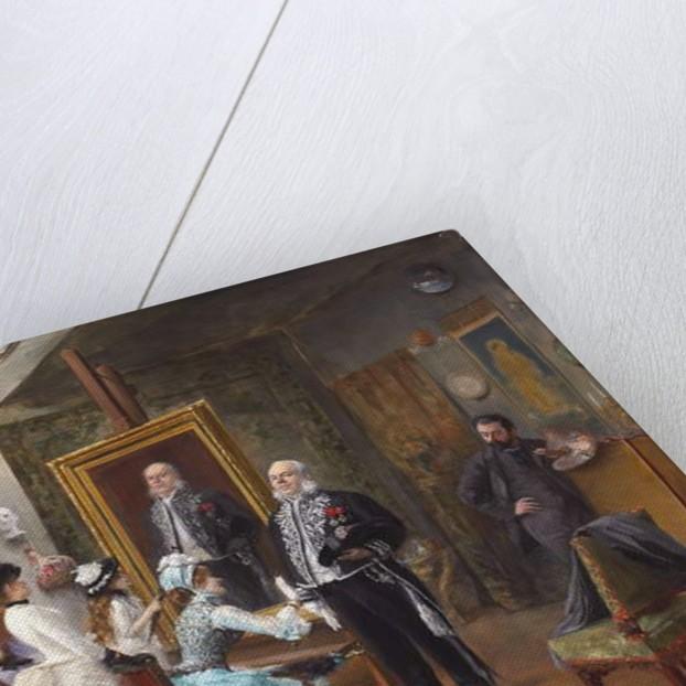 In the Artist's Studio by H. Brispot