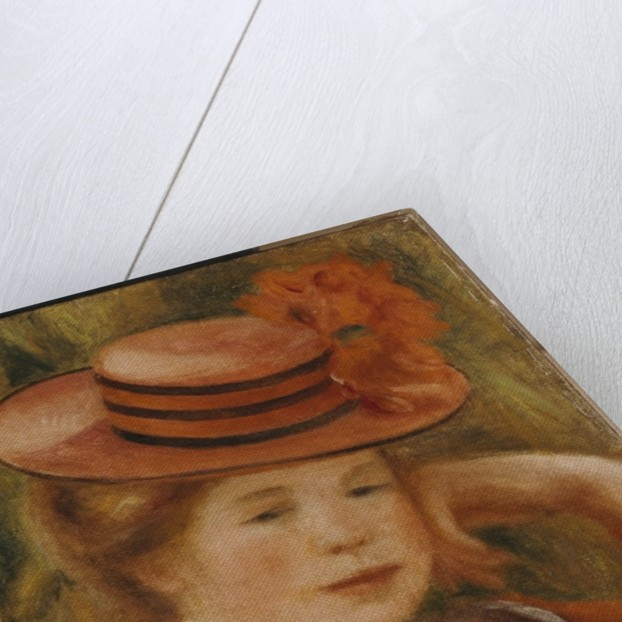 A Young Girl with a Red Hat, 1899 by Pierre Auguste Renoir