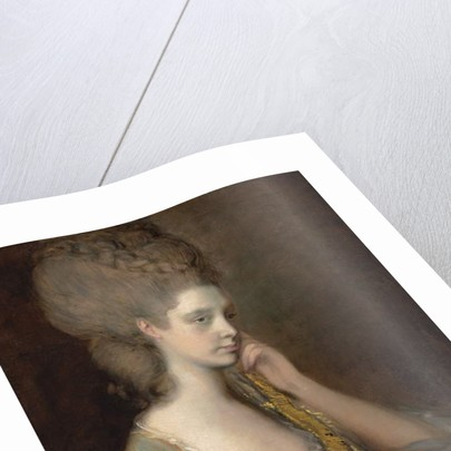 Portrait of Lady Anne Thistlethwaite, Countess of Chesterfield, bust-length, in a blue dress by Thomas Gainsborough