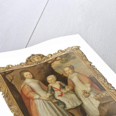 Portrait of the three children of George Preston of Holker, 1650 by Gerrit van Honthorst