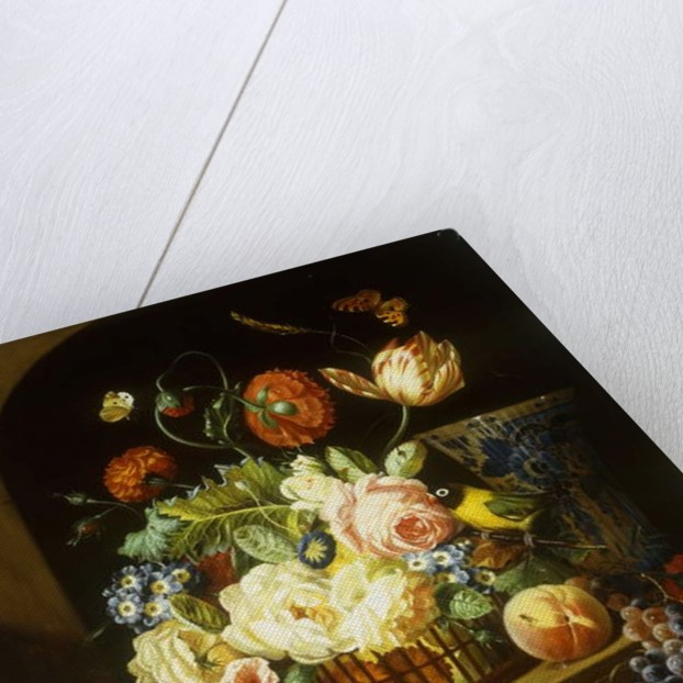 Still life with assorted flowers by Josef Holstayn